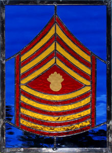 Master Gunnery Sergeant Glass Art