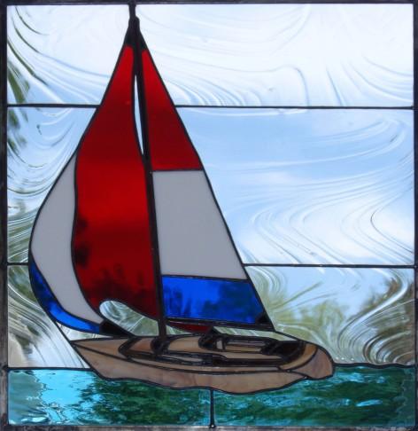 sailboat glass art